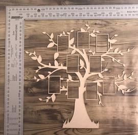 Family Tree Overlay -Chipboard