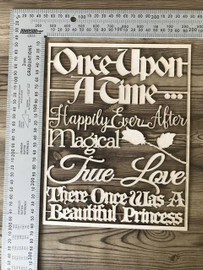 Once Upon a Time Word Set -Chipboard