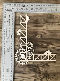 Steampunk Corner Frame -Chipboard