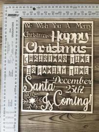 Christmas Words Set-Chipboard