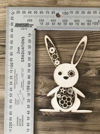 Steampunk Bunny Rabbit -Chipboard
