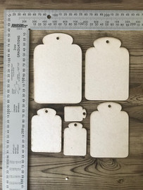 Round Tags Assorted Sizes set of 6 -Chipboard
