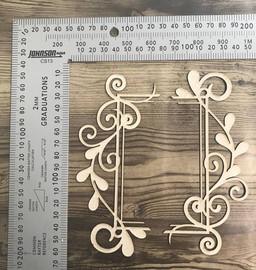 Flourish Frame Edges -Chipboard