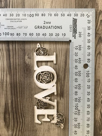 LOVE with Roses-Chipboard