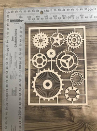 Eclectic Cogs set of 9 -Chipboard