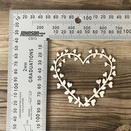 Mini Vine Heart- Chipboard
