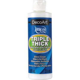 DecoArt Triple Thick Brilliant Brush-On Gloss Glaze 8oz