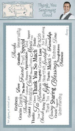 Creative Expressions Stamps - Thank You Sentiment Cloud