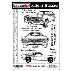 Darkroom Door Rubber Stamp Set - Classic Cars Vol. 2