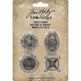 Idea-Ology Metal Faucet Knobs 4/Pkg