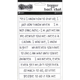 Dylusions Dyary Bigger Back Chat - White