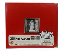 We are Memory Keepers Leather Scrapbook Album Red