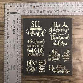 Brown Matt Travel Quotes Engraved - Matt Art Board