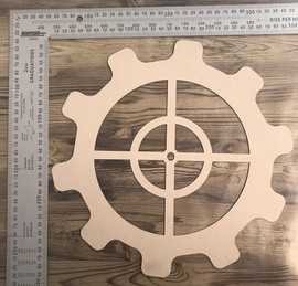 Large Cog Overlay -Chipboard