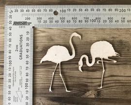 Flamingos Set of 2 -Chipboard