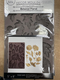 Prima IOD Mould botanist floral 8 x 5  inch