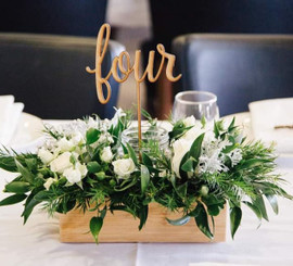 Set of 5 MDF Table Numbers 1-5