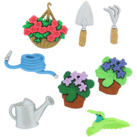 Dress it up Gardening Embellishment Buttons