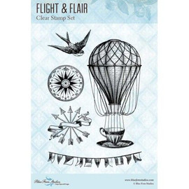 Blue Fern Studios Stamps - Flight and Flair