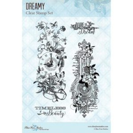 Blue Fern Studios Stamps - Dreamy Floral