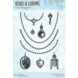 Blue Fern Studios Stamps - Beads and Charms