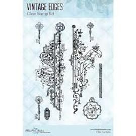 Blue Fern Studios Stamps - Vintage Edges