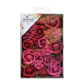 Handmade Flowers - Fiona, Candy Mix, 28 pc
