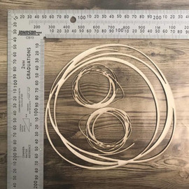 Scribble Circles set of 3 -Chipboard