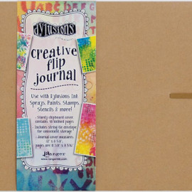 Dylusions Creative Flip Journal Kraft 12x8.5 inches