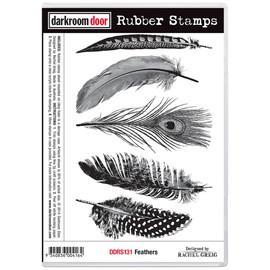 Darkroom Door Rubber Stamp Set - Feathers