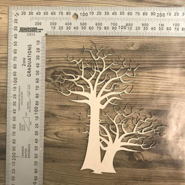 Two Bare Trees -Chipboard
