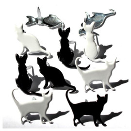 Eyelet Outlet Silhouette Cat Brads