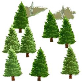 Eyelet Outlet Pine Trees Brads