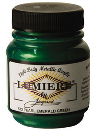 Lumiere Acrylic Paint  2.25oz – Pearl Emerald Green