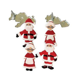 Eyelet Outlet Santa and Mrs Claus Brads