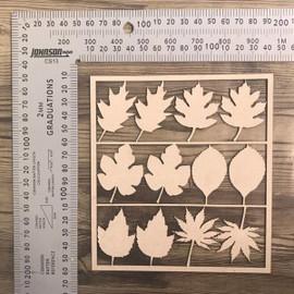 Leaves Set of 12 -Chipboard