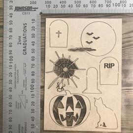 Halloween Set -Chipboard