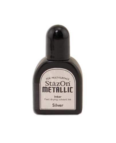 StazOn Metallic Reinker - Silver