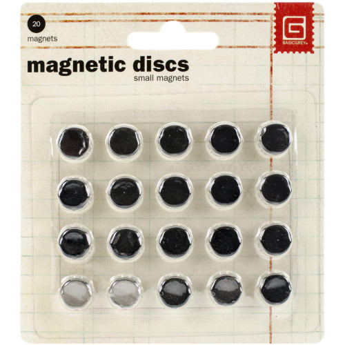 Basic Grey Magnetic Discs Small
