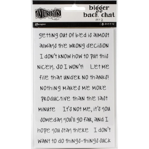 Dylusions Dyary Bigger Back Chat - White set 2