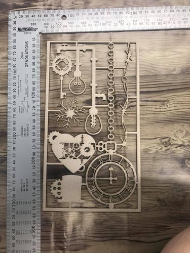 Steampunk Frost Set -Chipboard