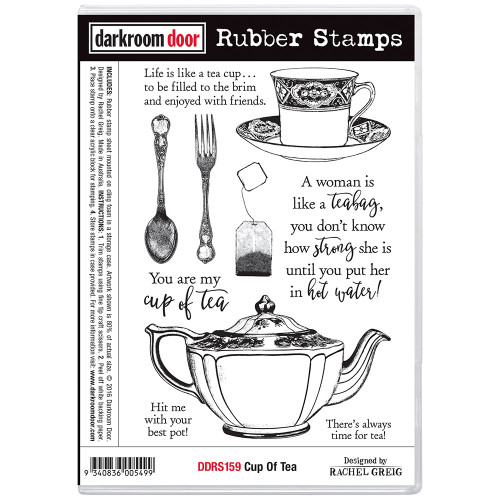 Darkroom Door Rubber Stamp Set - Cup of Tea