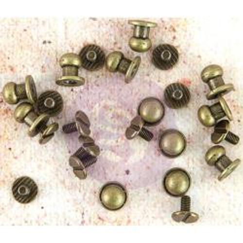 "Prima Marketing Memory Hardware Embellishments Metal Knobs .25"" 12/Pkg"