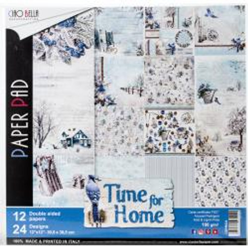 """Ciao Bella Double-Sided Paper Pack 90lb 12""""X12"""" 12/Pkg Time For Home, 12 Designs/2 Each"""
