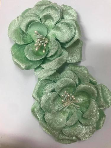 Velvet Roses Mint set 2 8cm each