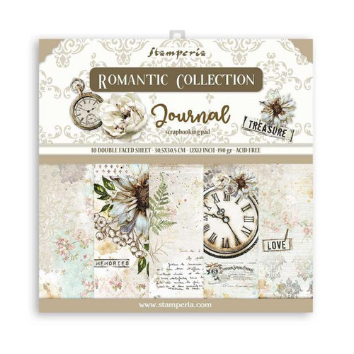 Stamperia Romantic Journal paper Pack 12x 12