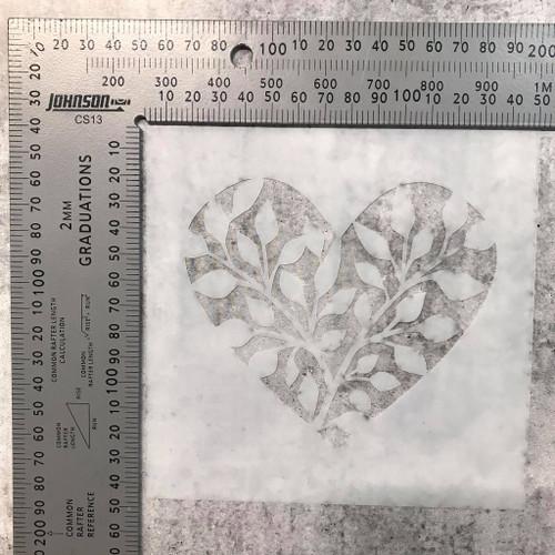 Imagine If Stencil - Heart Vines