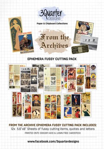 3Quarter Designs Ephemera Packs: From the Archives