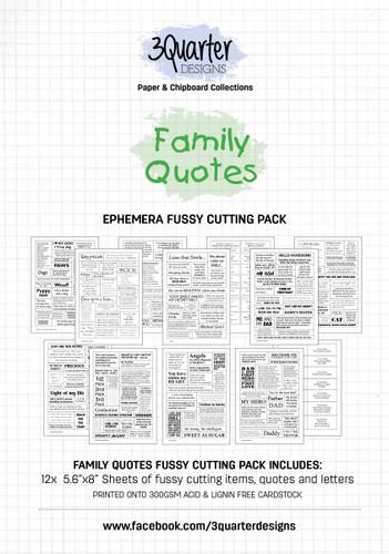 3Quarter Designs Ephemera Packs: Family Quotes