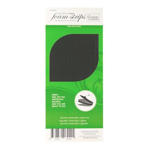 3D Foam strips black 2mm high x 3mm wide